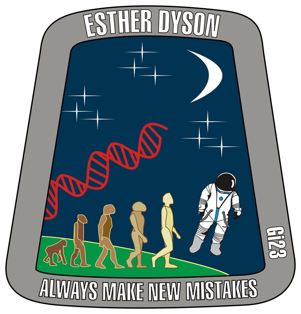 Diseño Emblema Esther Dyson Astronauta