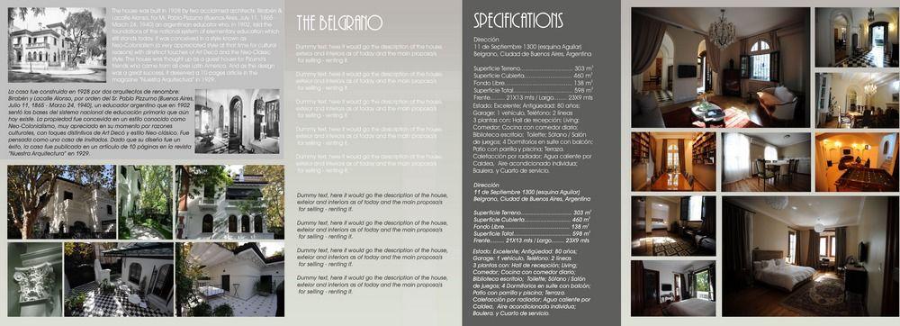 Diseño The Belgrano Brochure - flyer 2