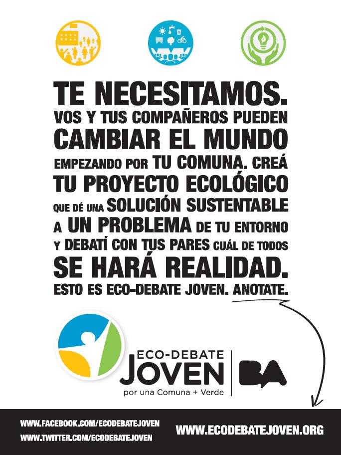 Diseño Flyer Ecodebate Joven