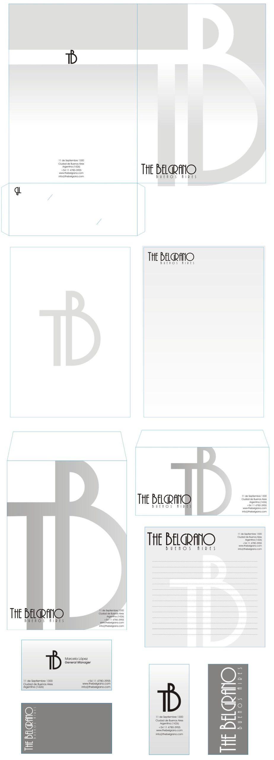 Diseño Papelería The Belgrano