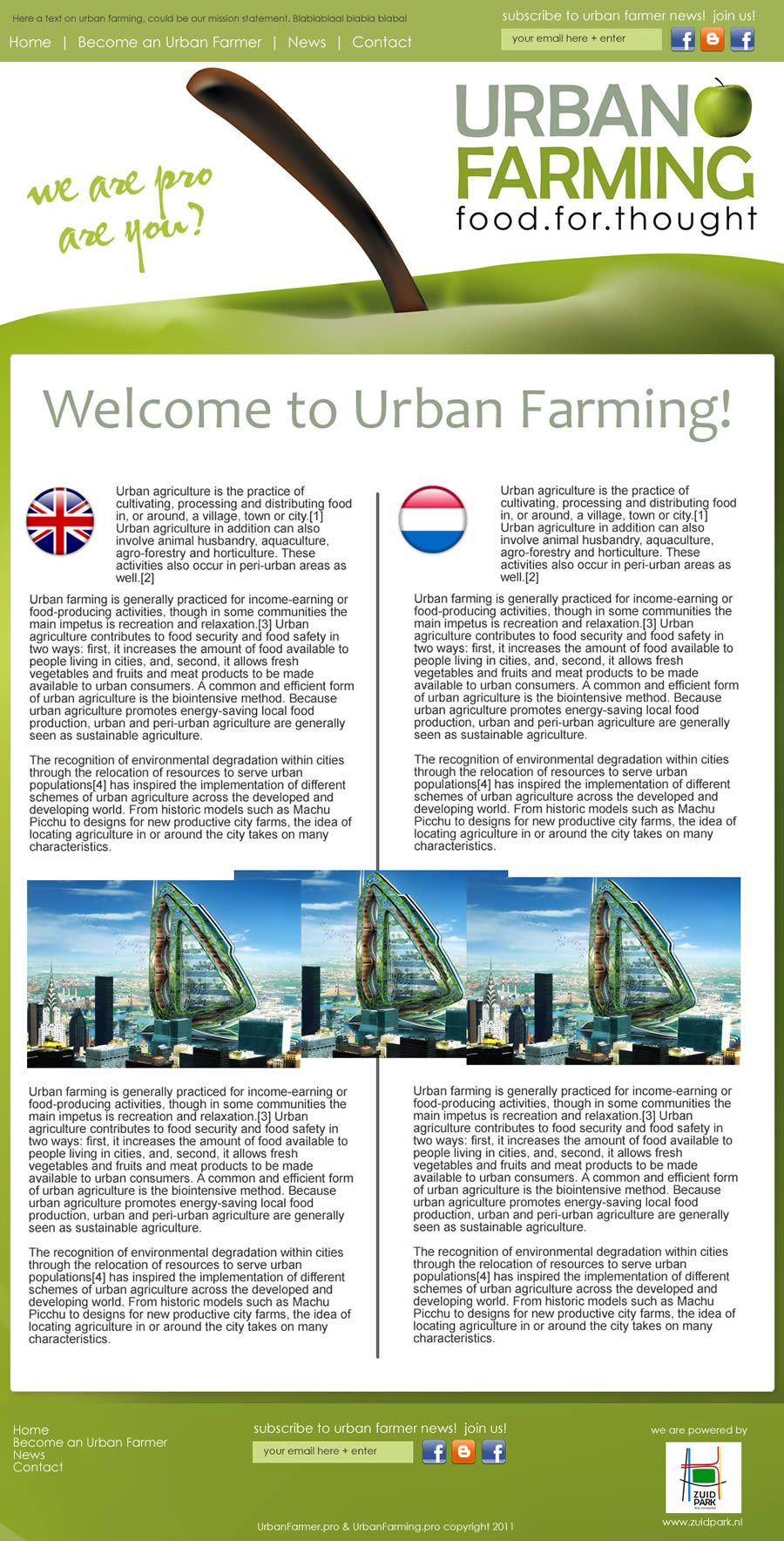 DIseño web urban farming